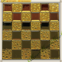 New arrive seamless beveled mosaic tile glass material