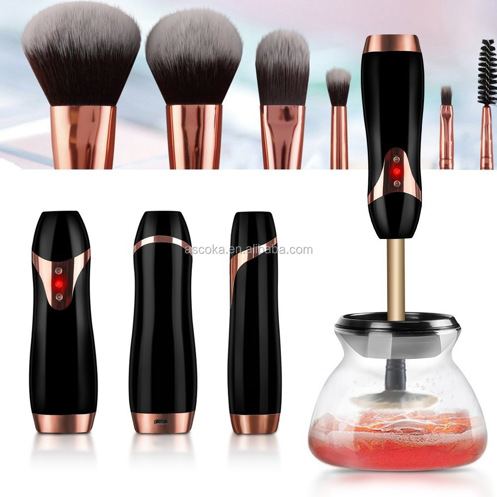 Hot selling and high quality makeup brush cleaner machine newest USB brushes cleaner rechargeable makeup brush cleaner