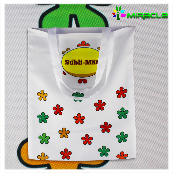 Custom reusable blank sublimation tote bag heat printing bag new technology