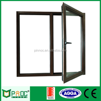 Double Glass Horizontal Pattern Outswing Aluminum Chain winder Window And Door,aluminum profile windows and door PNOC0013CMD