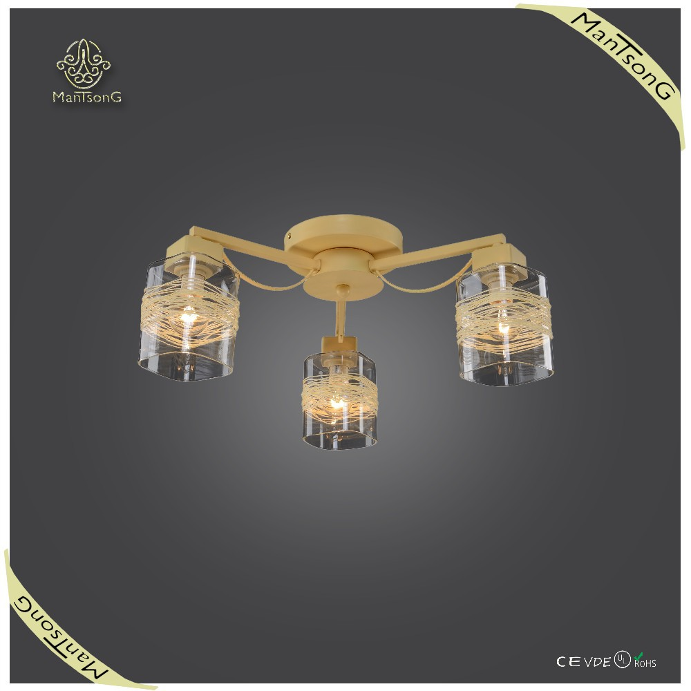 Hot sale Modern Lighting Fixtures Glass Home Decor Rattan Ceiling Light