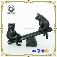 Garden Decoration Art And Handicrafts Animal Theme Cast Iron Bronze Frog Sculpture