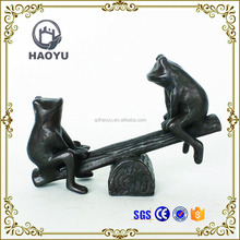 Garden Decoration Art And Handicrafts Animal Theme Cast Iron Bronze Frog Sculpture