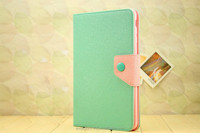 New Korea Fashion Style PU Leather Stand Smart Cover Book Case For iPad Air iPad 5 With Magnetic Button Match Color