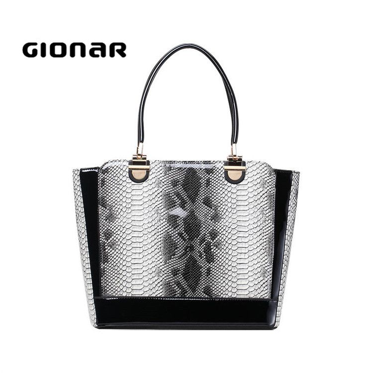 Beautiful Black Designer snake leather Large Shoulder Bags Ladies Bags Women'S Handbags Sale