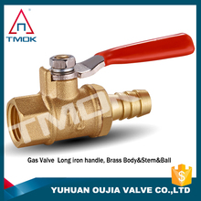 made in China gas vavle and thread material Hpb57-3 and long alum handle valve