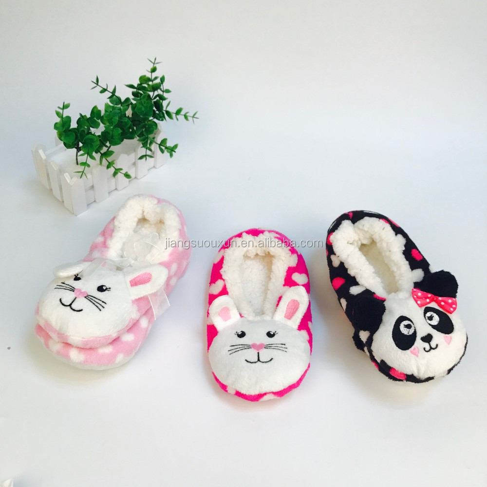 Wholesale Cute 3D animal women Home slipper socks
