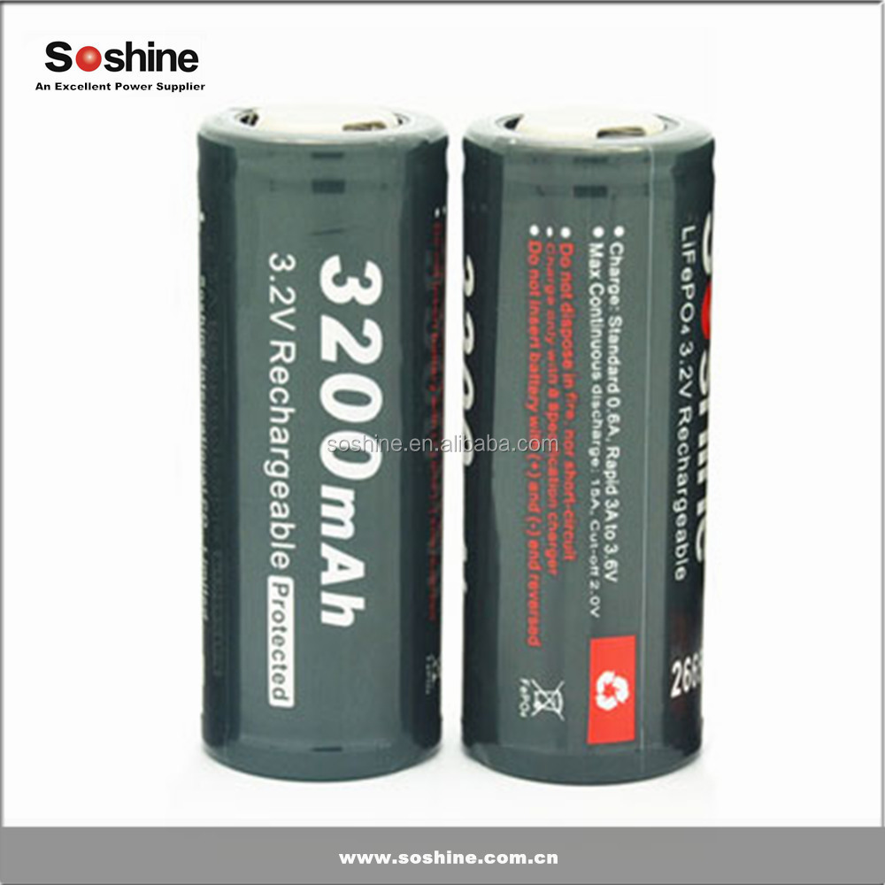 High quality lifepo4 26650 rechargeable battery 3.2v 3200mah for Electric scooter from China supplier