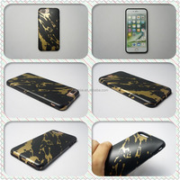Hot Gold Stamping IMD/IML Black Gold Chrome Marble Phone Case For iphone 6 6s Plus 7 7Plus Luxury High Quality Thick TPU Cover