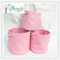 Fashion Household Round Paper Straw Foldable Storage Box