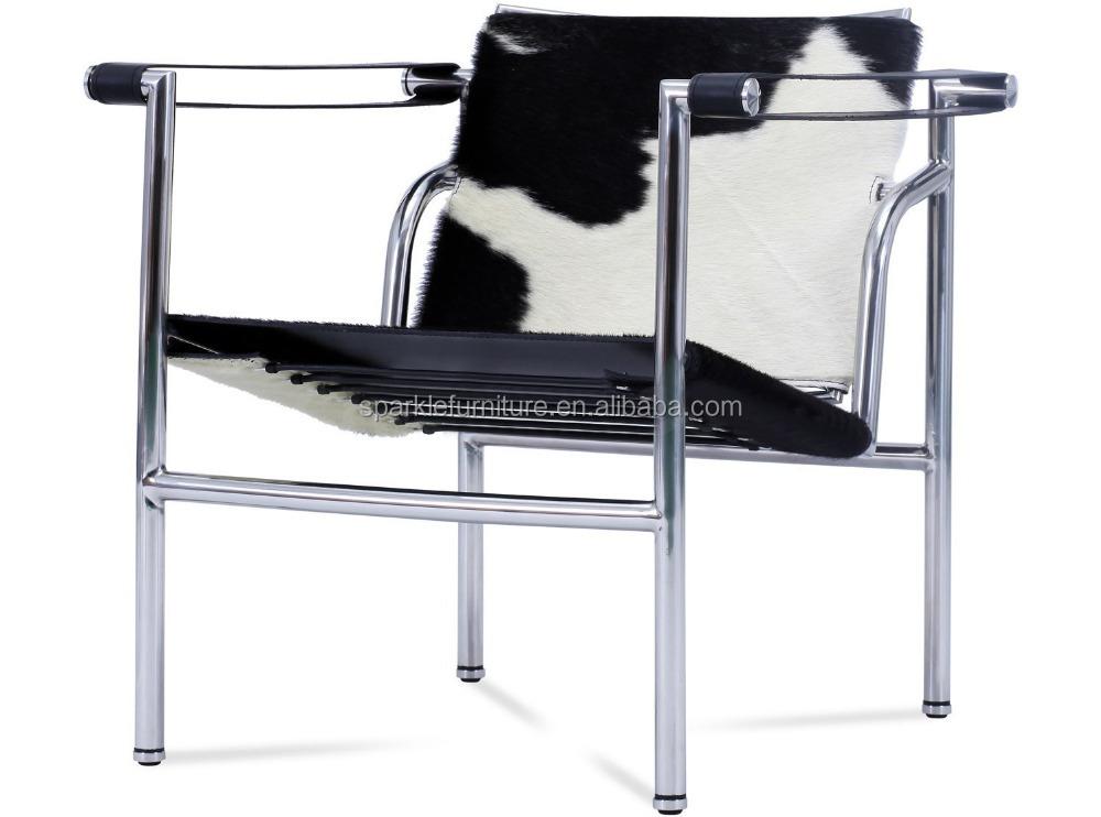 Le corbusier lc1 basculant sling silla moderno ocio cuero for Silla le corbusier