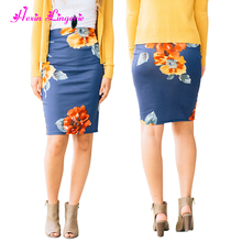 2017 Stretch Bodycon pencil plus size fat women office skirts designs
