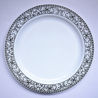 Disposable Round Plastic Plate for Wedding