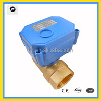 "DN15 1"" DC5V Brass mini actuator motor electric valve for irrigation equipment,drinking water equipment,water heaters"