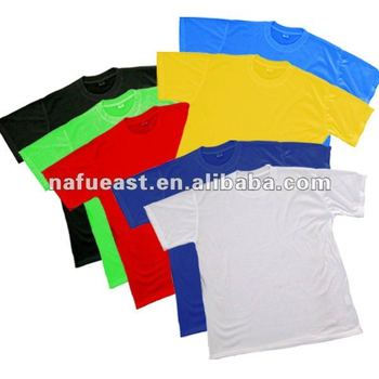 Blank 100% polyester T shirt for sublimation printing