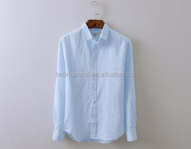 factory wholesale cotton and linen casual elbow-length sleeve <strong>shirts</strong> for men
