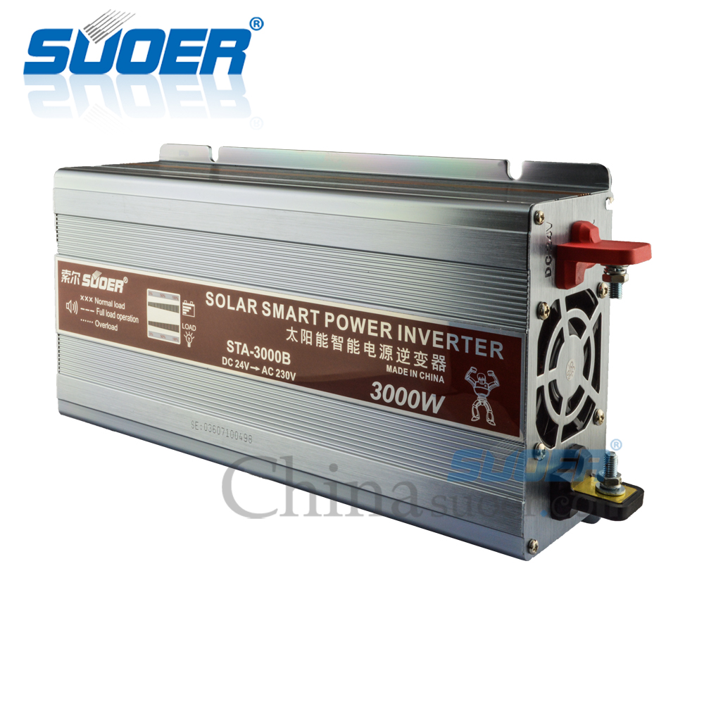 Suoer Built-in 5V 1A USB Interface 24V 220V 3000 watt Power Inverter For Solar Power System