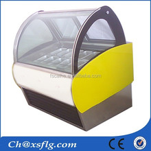 cheapest new style cake ice cream display freezer for sale