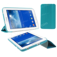 Tri-fold Crazy Horse Leather Case For Samsung Galaxy Tab 3 7.0 Lite T110 T111