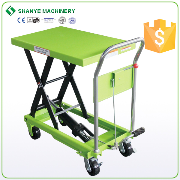 Small portable hydraulic mini scissor lift/scissor lift table