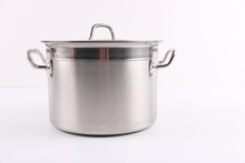 Large stainless steel pot stand, 30 liter stainless steel stock pot