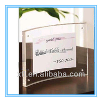 acrylic curved family or office desktop photo frame nobel design