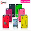 Coin stand silicone fingerprint pattern case for iphone 5