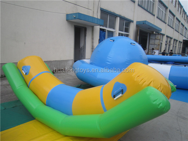 2016 outdoor giant crazy inflatable water toys inflatable totter for sale