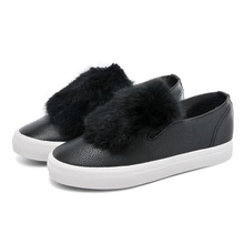 hot selling women fur sneakers casual shoes