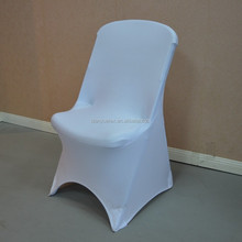 White cheap spandex folding chair cover for folding chairs