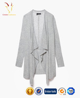 Shawl Collar 100% Pure Cashmere Women Sweaters Cardigans Spring without Buttons