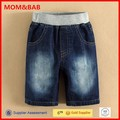 FASHION mom and bab Kids Wear 2015 Summer Navy Design Latest Cotton Short Jeans for Kids