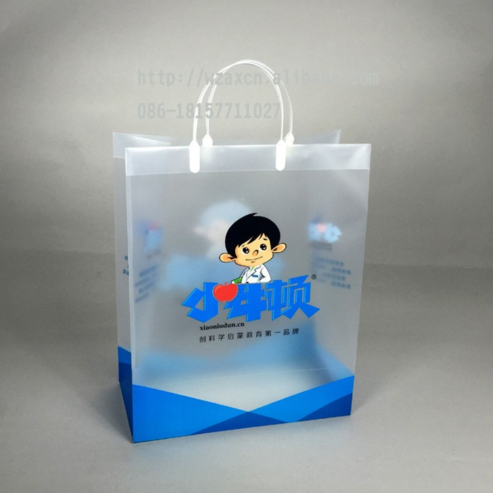 Cheap pp handle bag promotional gift shopping bag plastic pp tote bag