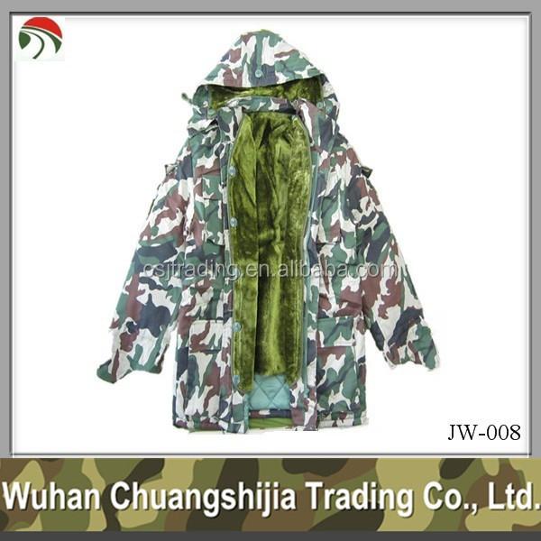 woodland winter men jacket camouflage