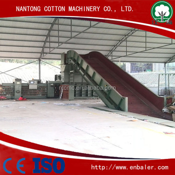 Automatic waste paper baler machine with CE
