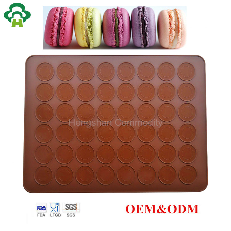 Customized mold design food grade silicone macaron pastry baking mat cake mould diy oven cake tools