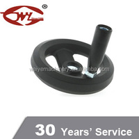 Popular Matt Black plastic valve hand wheel with folding handle