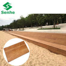 Hotel Outdoor Waterproof Strand Woven Bamboo Flooring For Construction