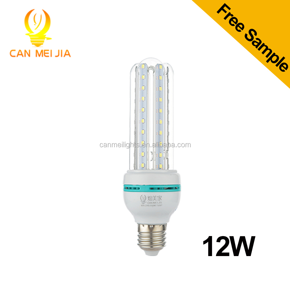 China supplier U shape led light led bulb e27 12w led corn light with worldwide voltage AC 80-265V
