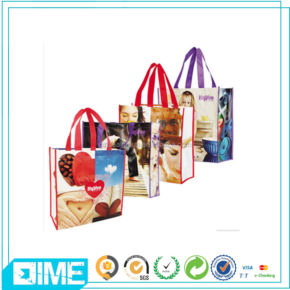 Promotional Customized Laminated Eco Fabric Tote Pp Non Woven Shopping Bag With Best Price