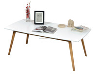 Newly Design Wood Legs Modern MDF Dining Table, MDF Dining Table Set