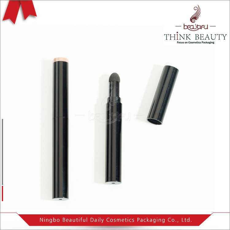 Competitive price fashion black ABS plastic eye shadow pen/tube/stick/case