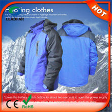 TWO- PIECE anti- Static basic-style heated jacket with USB charger