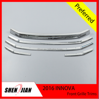 2016 INNOVA Toyota Front Grille Trims Exterior Accessories Chrome Front Grille Trim wholesaler prices Chrome accessory