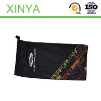 Screen printi/Icon text/Custom Microfiber Glasses Bags with Compounded ClothFor Glasses