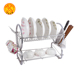 2018 Kitchen accessory house stainless steel double layer dish rack