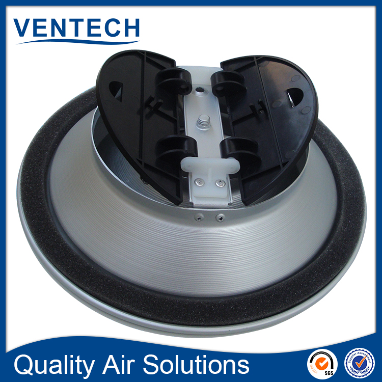 hvac aluminum 3 cones adjustable round ceiling air diffuser with butterfly damper