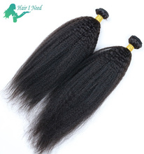 100 Percent Virgin Indian Afro Kinky Curly Remy Human Hair for Braiding