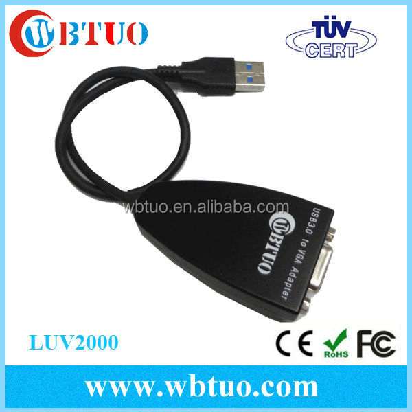 High resolution usb vga adapter USB3.0 to VGA female cable converter