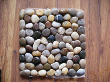 Natural river stone pebble snow white pebble mesh mosaic tile